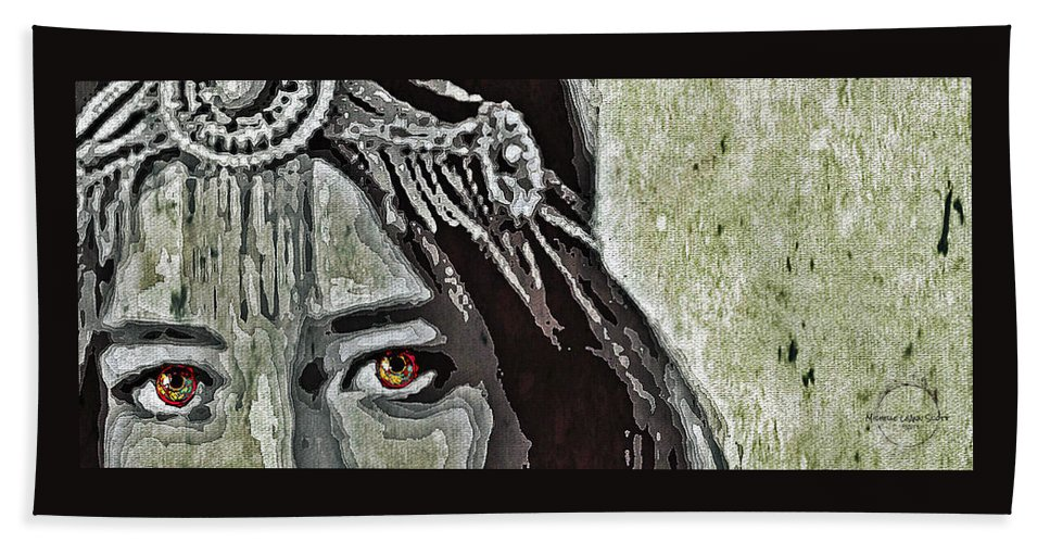 Eyes Hand Towel featuring the digital art Hungry Eyes by Absinthe Art By Michelle LeAnn Scott