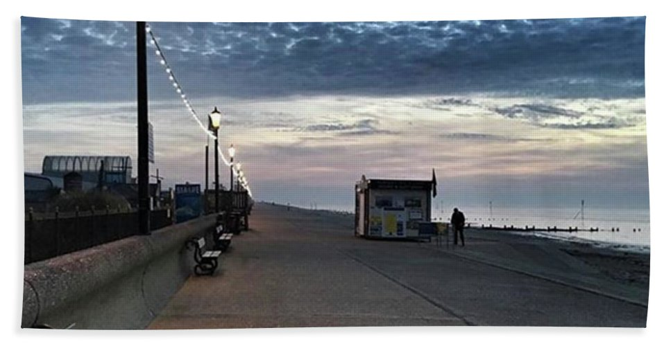 Beautiful Bath Towel featuring the photograph Hunstanton At 5pm Today  #sea #beach by John Edwards