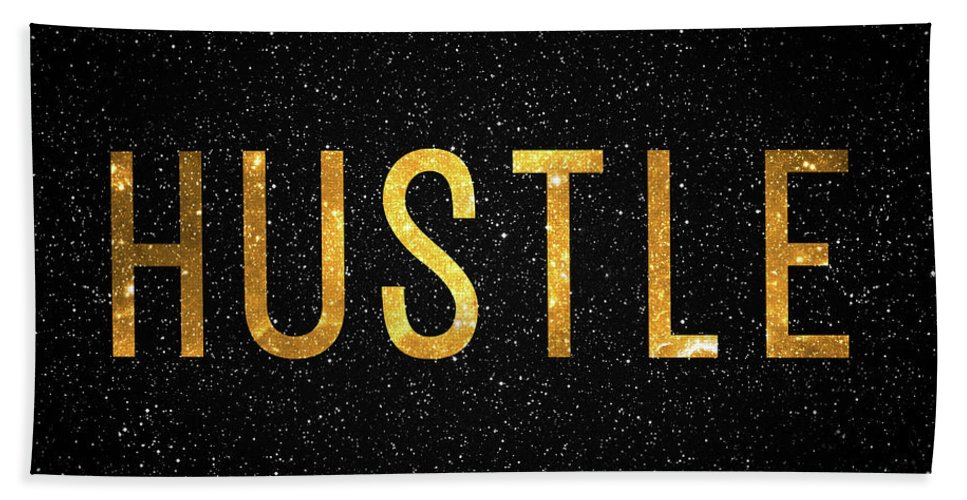 Hustle Bath Towel featuring the digital art Hustle by Zapista OU