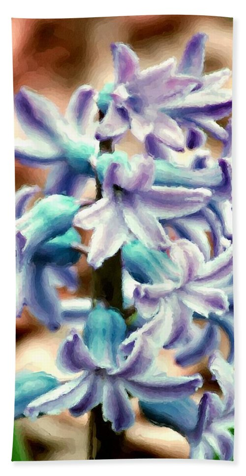 Digital Photography Hand Towel featuring the photograph Hyacinth Photo Manipulation by David Lane