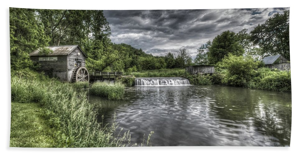 Mill Bath Towel featuring the photograph Hyde's Mill by Brad Bellisle