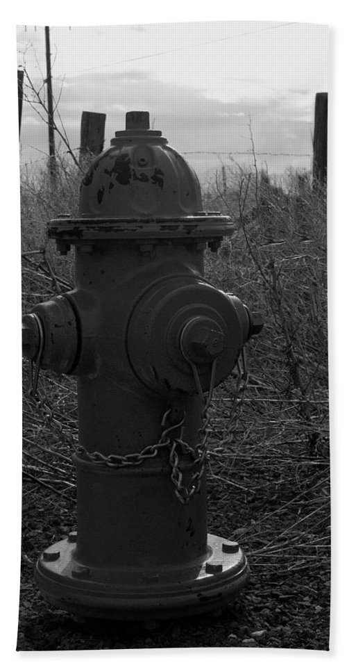 Fire Hydrant Hand Towel featuring the photograph Hydrant by Sara Stevenson