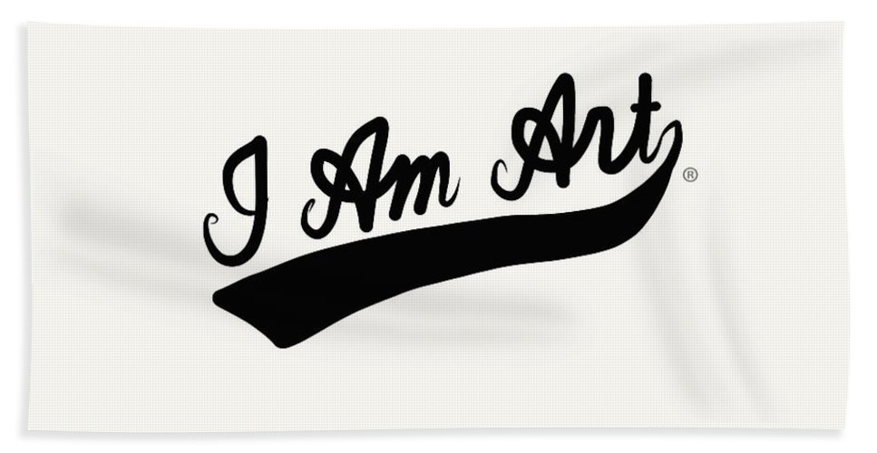I Am Art Hand Towel featuring the mixed media I Am Art Swoosh Black- Art By Linda Woods by Linda Woods