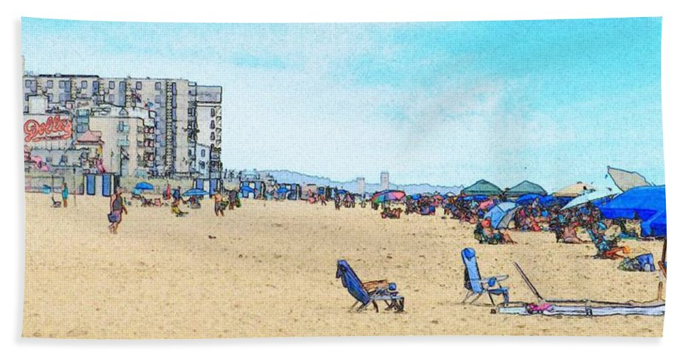 Rehoboth Beach Photography Hand Towel featuring the photograph I Can See The Towers From Here by Jeffrey Todd Moore