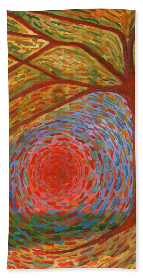 Colour Hand Towel featuring the painting I Die by Wojtek Kowalski