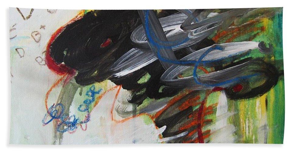 Abstract Paintings Paintings Abstract Art Paintings Bath Sheet featuring the painting I Got D by Seon-Jeong Kim