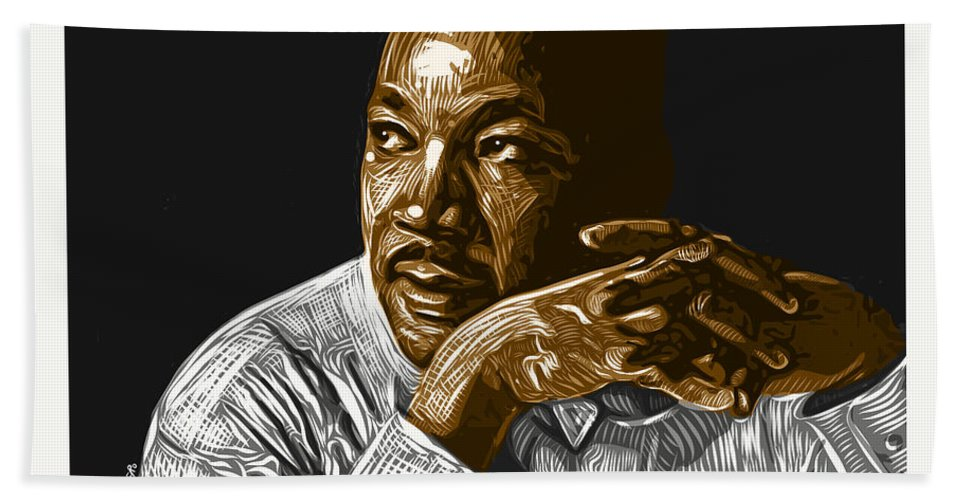 Dr. Martin Luther King Jr. Hand Towel featuring the digital art I Have A Dream . . . by Antonio Romero