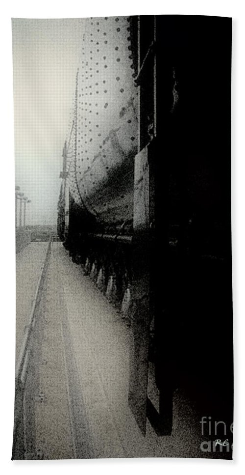 Train Bath Towel featuring the digital art I Hear That Lonesome Whistle Blow by RC deWinter