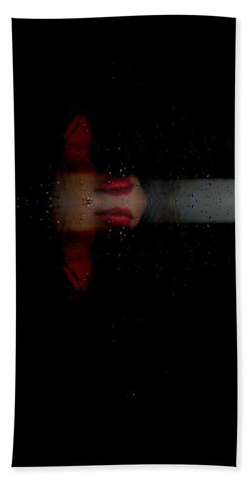 Glitch Hand Towel featuring the photograph I Still Remember Ftg0004 by Feel The Glitch