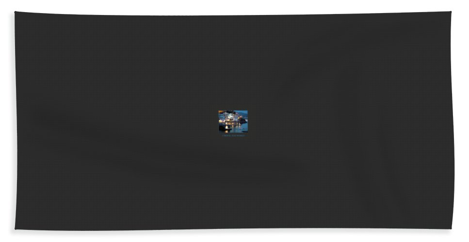Motivational Posters Bath Sheet featuring the photograph I Travel The World Amalfi by Donna Corless