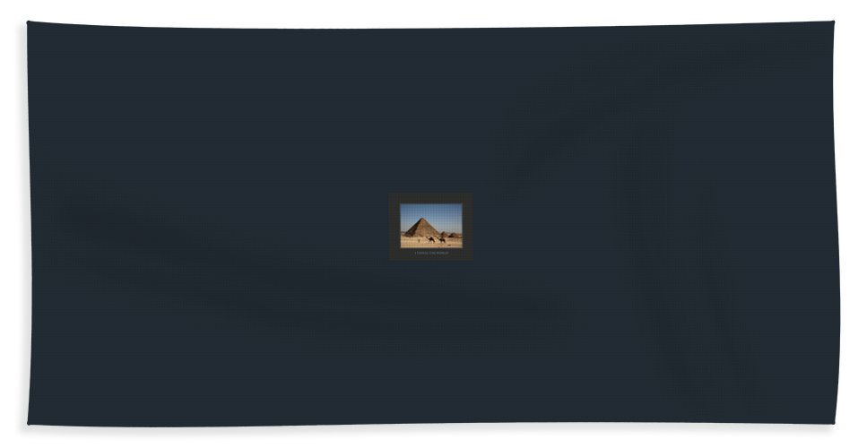 Motivational Poster Hand Towel featuring the photograph I Travel The World Cairo by Donna Corless