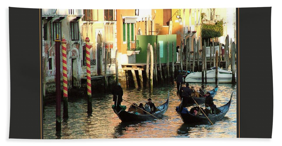 Motivational Hand Towel featuring the photograph I Travel The World Venice by Donna Corless