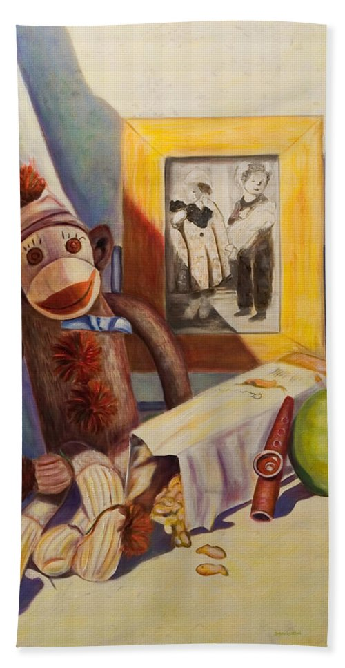 Children Hand Towel featuring the painting I Will Remember You by Shannon Grissom