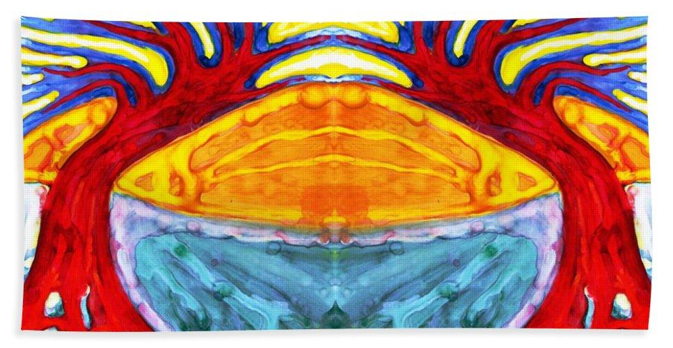 Colour Hand Towel featuring the digital art I Would Like To Be Me by Wojtek Kowalski