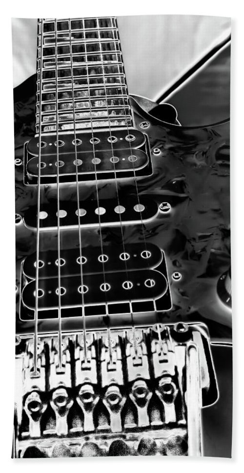 Ibanez Guitar Bath Sheet featuring the photograph Ibanez Guitar by David Patterson