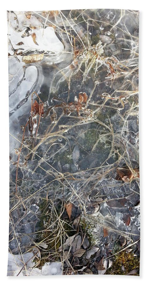 Ice Hand Towel featuring the photograph Ice Art Iv by Joanne Smoley