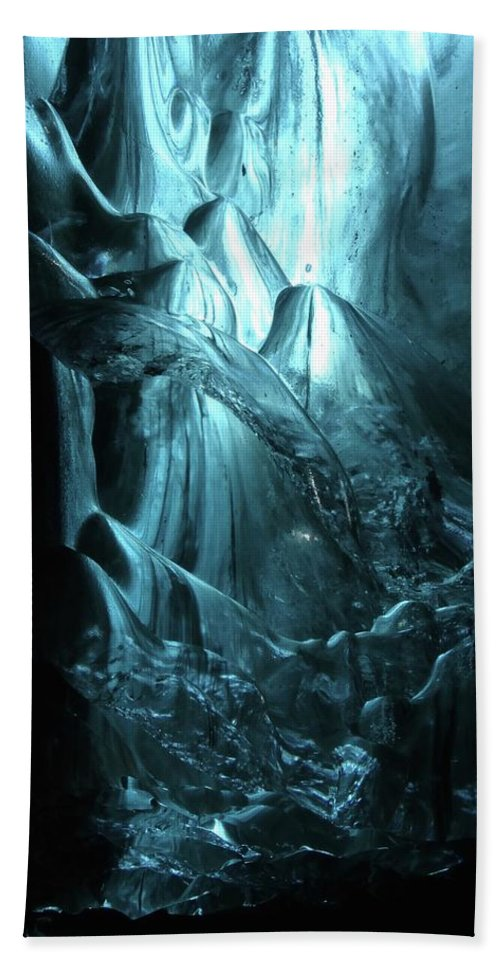 Ice Bath Sheet featuring the photograph Iceland - Glacier Ice Caves #4 by Andy J Gill
