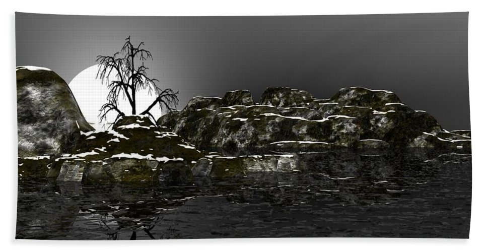 Fine Art Hand Towel featuring the digital art Ice Cold by David Lane