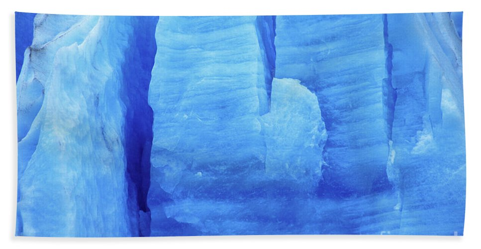 Glacier Hand Towel featuring the photograph Ice Formations by James Brunker