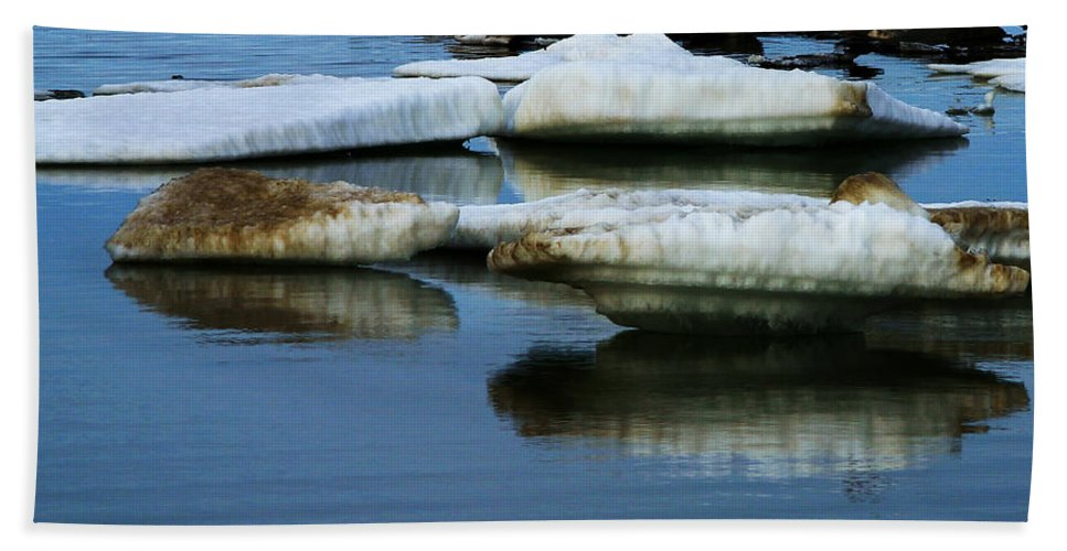 Ice Hand Towel featuring the photograph Ice In The Arctic by Anthony Jones