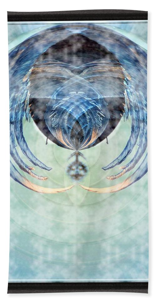 Ice Hand Towel featuring the photograph Ice Layered Effect And Framed by Karl Rose