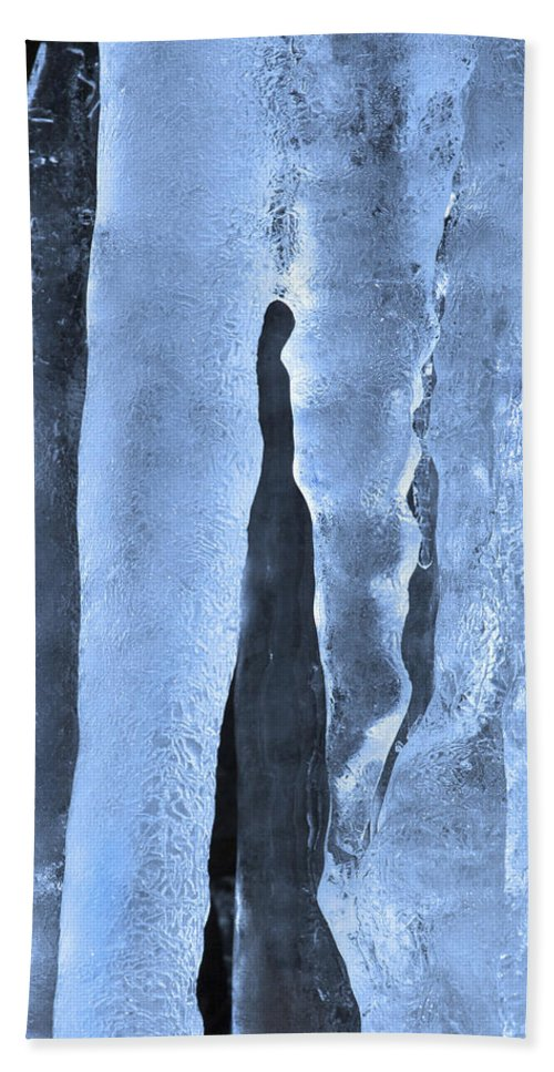 Icicle Hand Towel featuring the photograph Ice Sculpture by Mike Dawson