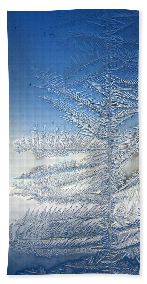 Ice Hand Towel featuring the photograph Ice Tree by Rhonda Barrett