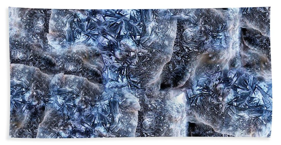 Abstract Bath Sheet featuring the digital art Ice World by Ron Bissett
