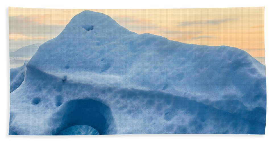Photography Bath Sheet featuring the photograph Iceberg On The Jokulsarlon Glacial by Panoramic Images