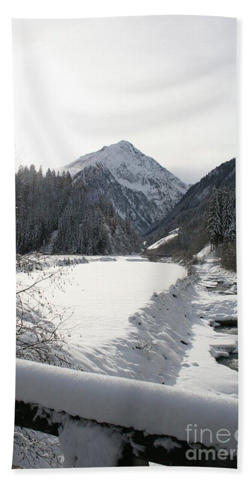 River Hand Towel featuring the photograph Iced River by Christiane Schulze Art And Photography