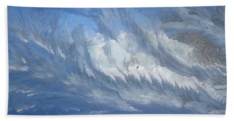 Ice Hand Towel featuring the photograph Icescapes 1 by Rhonda Barrett