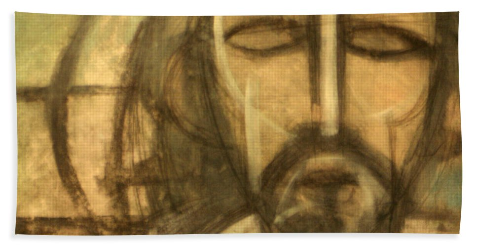 Christ Bath Sheet featuring the painting Icon Number 6 by Tim Nyberg