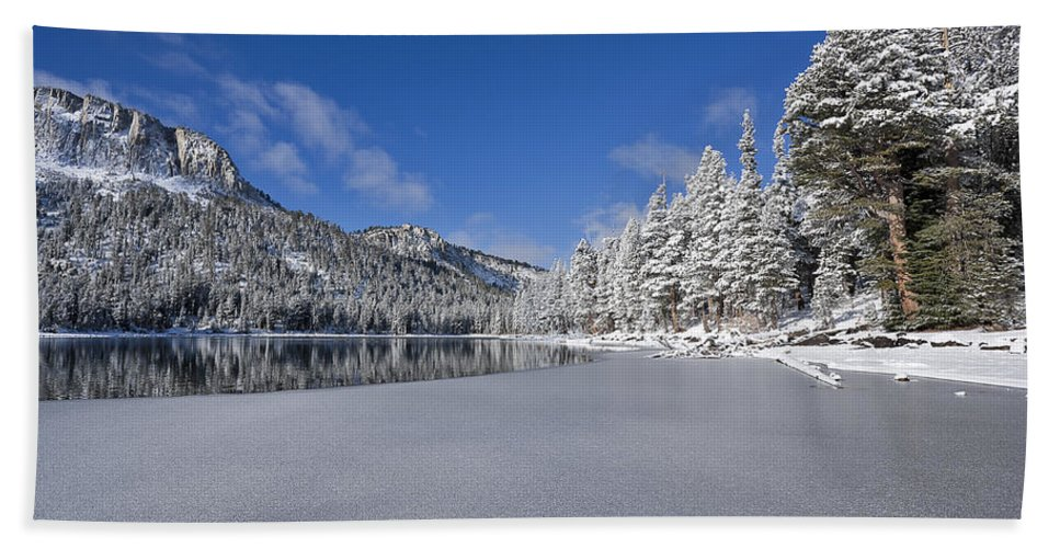 Water Bath Sheet featuring the photograph Icy Cold by Kelley King