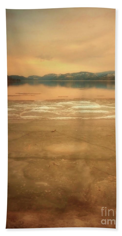Mounatins Bath Sheet featuring the photograph Icy Sunset by Tara Turner