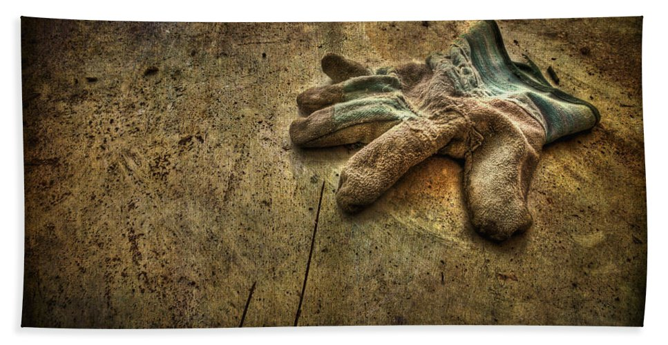 Glove Bath Sheet featuring the photograph If The Glove Doesn't Fit........ by Evelina Kremsdorf