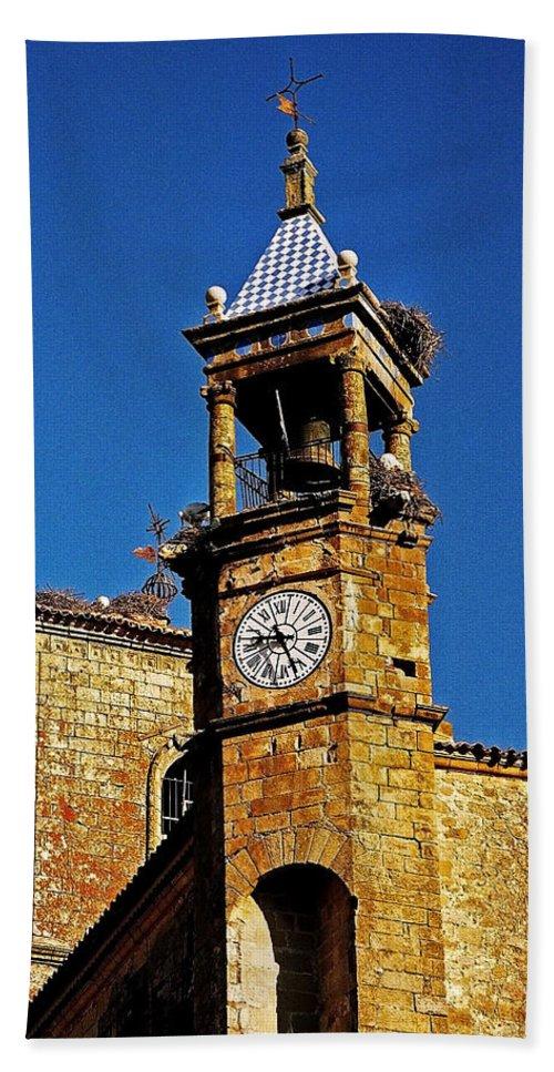Europe Hand Towel featuring the photograph Iglesia De San Martin - Trujillo by Juergen Weiss