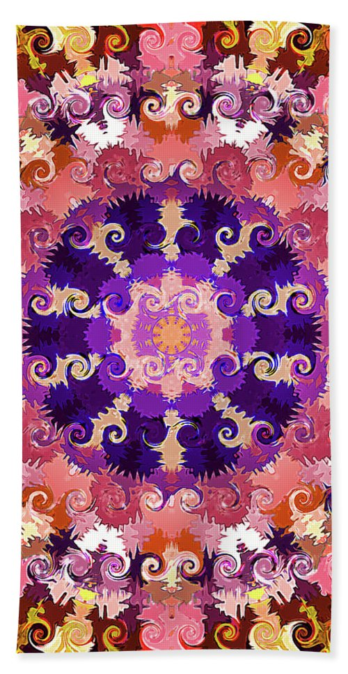Mandala Art Hand Towel featuring the painting Ignites My Mood by Jeelan Clark