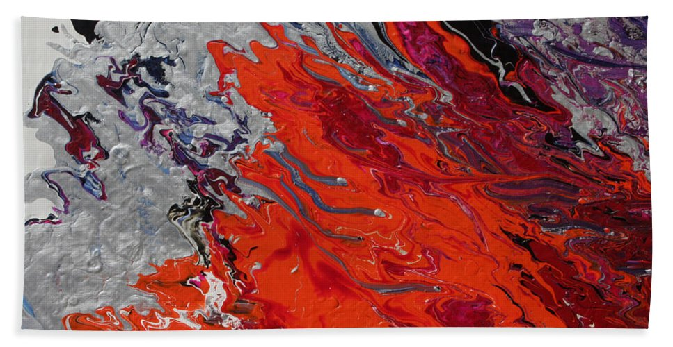 Fusionart Hand Towel featuring the painting Ignition by Ralph White