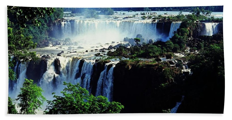 South America Hand Towel featuring the photograph Iguacu Waterfalls by Juergen Weiss