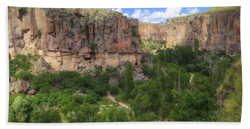 Ihlara Valley Hand Towel featuring the photograph Ihlara Valley - Turkey by Joana Kruse