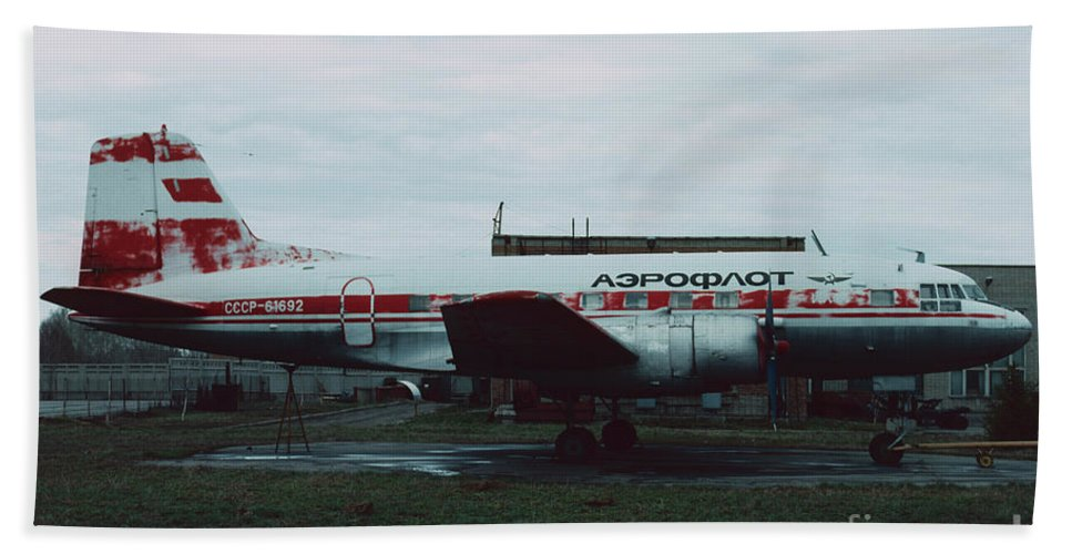 Il-14 Hand Towel featuring the photograph Il-14 by Oleg Konin