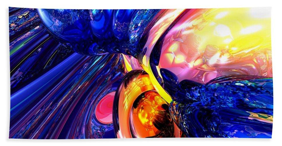 3d Bath Sheet featuring the digital art Illuminate Abstract by Alexander Butler