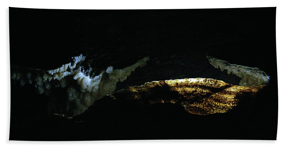 Cave Hand Towel featuring the photograph Illumination by Alycia Christine