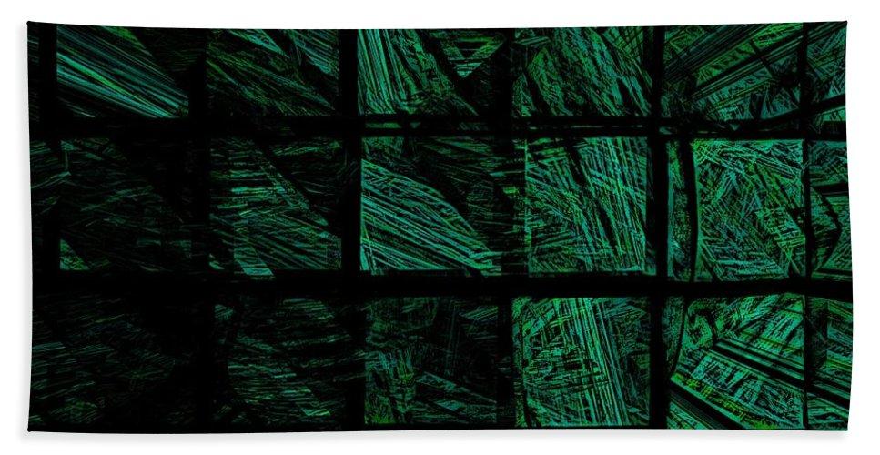 Abstract Digital Painting Bath Sheet featuring the digital art Illusion 2 by David Lane