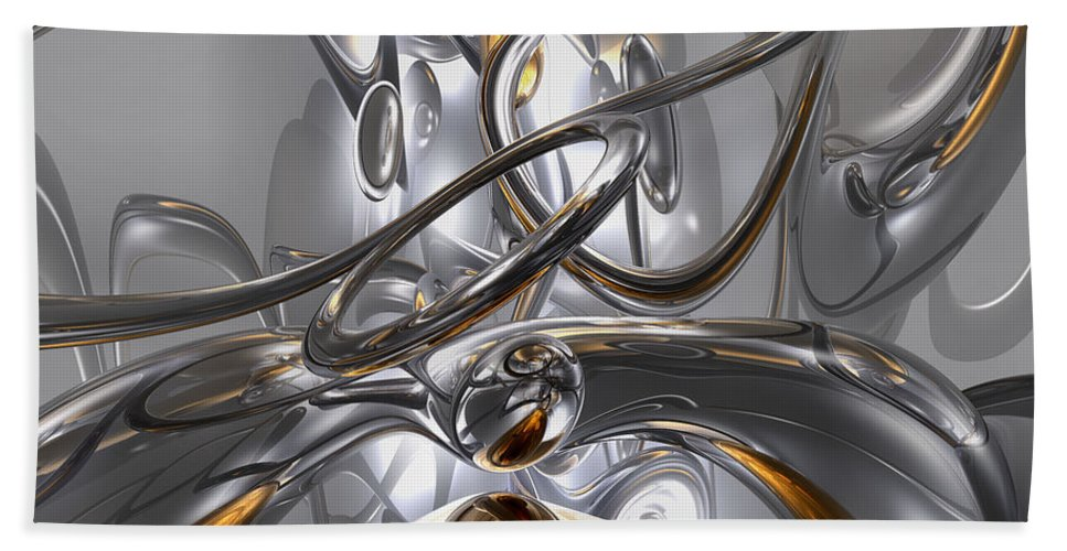 3d Hand Towel featuring the digital art Illusions Abstract by Alexander Butler