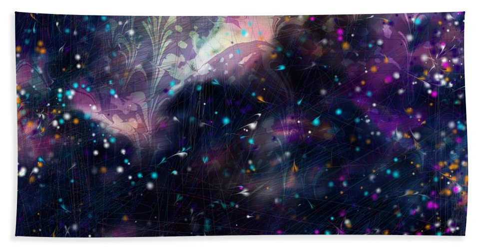 Abstract Hand Towel featuring the digital art I'm In Heaven by Rachel Christine Nowicki