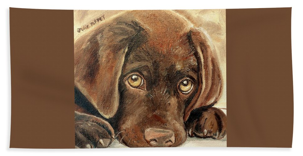 I M Sorry Chocolate Lab Puppy Hand Towel For Sale By Julie Brugh Riffey