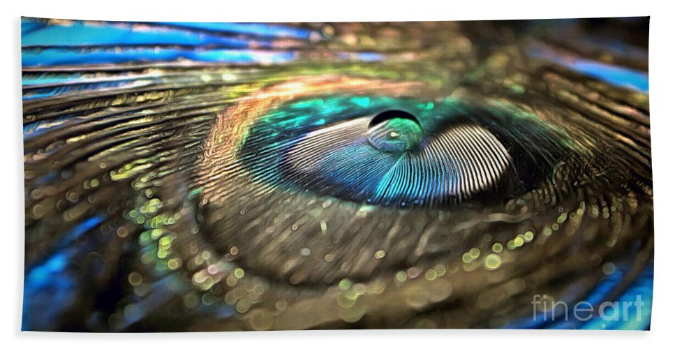 Peacock Feather Bath Sheet featuring the photograph Imagine If by Krissy Katsimbras
