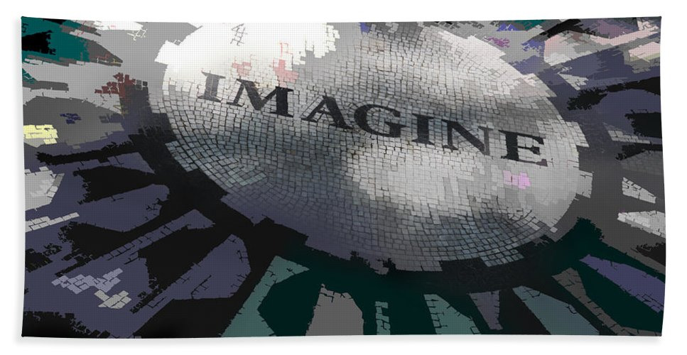 Imagine Bath Sheet featuring the photograph Imagine by Kelley King