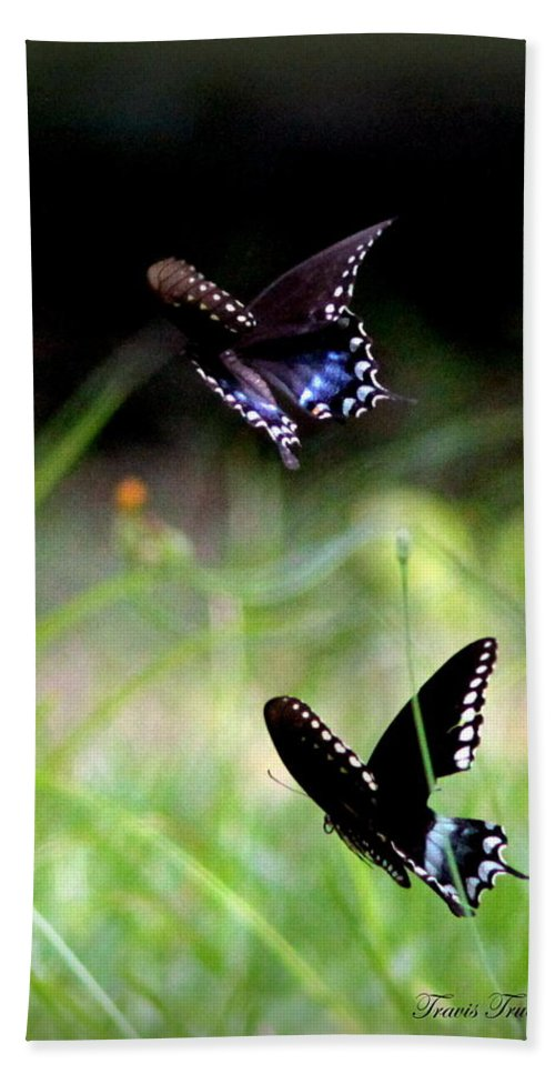 Butterfly Bath Towel featuring the photograph Img_1521 - Butterfly by Travis Truelove